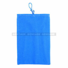 5 Inch BLUE Velvet Pouch Case Bag For iPhone, Samsung Galaxy S, Note, HTC, Mega