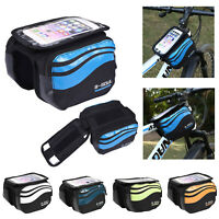B-SOUL Bicycle Frame Pannier Saddle Front Tube Bag Waterproof Bike Double Pouch