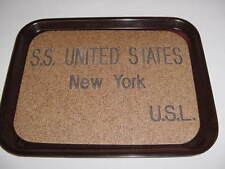 SS UNITED STATES LINES  Mid-Century Bakelite Waiter's Tray  /  Top Condition