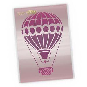 Hot Air Balloon Stencil - A4 Sized Mylar Hot Air Balloon Craft/DIY Template