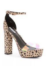 Cape Robbin Black Star platform Gold glam sandals  size 5.5 6 6.5