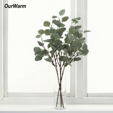 1×Artificial Plants Eucalyptus Leaves Branches Wedding Silk Artificial Greenery
