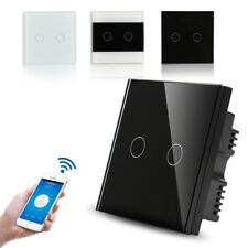 1 2 3 Gang Smart WiFi Touch Switch Wall Retome Control Touch LED Light New USA