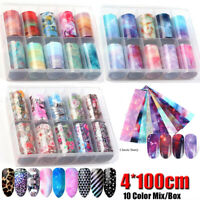 Retro Colorful Holographic Nail Foils Nail Sticker Transfer Decals Mix Style