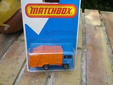 MATCHBOX ENGLAND 1980 MB 36 Benne à ordure BOM REFUSE Neuf boite blister scellé