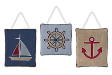 Wall Art Decor Hanging Sweet Jojo Designs for Nautical Sailboat Baby Kid Bedding