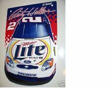 NEVER USED MINT 2000 RUSTY WALLACE #2 MILLER LITE DODGE RACING HOOD NASCAR SIGN