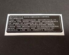 NOISE EMISSION 1985 ATC 250R HONDA DECAL STICKER EMBLEM GRAPHIC