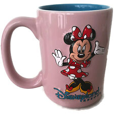 Disneyland Resort Disney Parks Pink Coffee Tea Mug Cup Raised Minnie Mouse