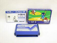 BASEBALL Blue Box Item ref/bcb Famicom Nintendo Japan Game fc
