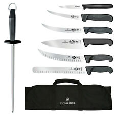 Victorinox Swiss Army 8-Piece Competition BBQ Set Blk Fibrox Pro Handle 46137US2