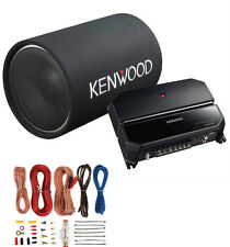 "Kenwood P-W131TB 12"" 1200W Bass Tube Subwoofer + 2-Channel Amplifier + Amp Kit"