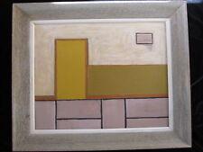 LISTED ARTIST painting ABSTRACT modernist UNFRAMED Dr. BENJAMIN L. Gross VINTAGE