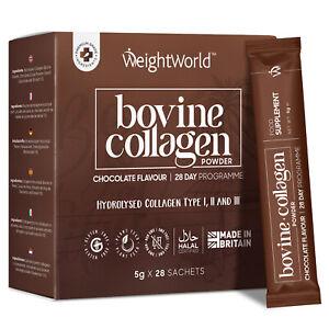 Hydrolysed Bovine Collagen Peptides Type I, II, III Powder 4000mg 28 Sachets
