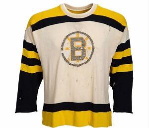1955-57 Game Worn Boston Bruins Wool Sweater Jersey Incredible Vintage RARE