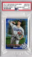 2017 BOWMAN CHROME MINI BLUE SHIIMMER REF #/150 WALKER BUEHLER PSA GEM MT 10 RC