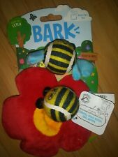 Bark Polly & Nate bee squeek 2 Tennis Ball Tiny toy Interactive Dog fetch flower