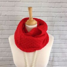 Womens Knitted Winter Snood Infinity Scarf Bright Red Perfect Gifts New