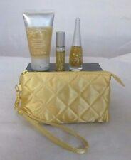 Mary Kay Gold Wrist Bag Gold Glimmer Face/Body Gel Top Coat Polish  Lip Gloss