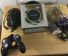Nintendo GameCube System Platinum With Gamer Graphics With Controller Tested