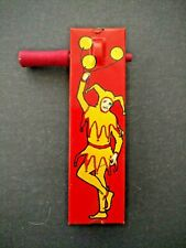 Noise Maker Toy - Kirchhof USA Litho Tin Halloween New Years Red w/Jester 1928