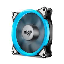 Aigo  Ice Blue Halo LED 120mm PC CPU Computer Case Cooling Neon Clear Fan Mod