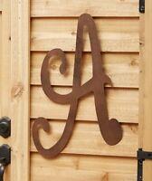 A Large Rustic Metal Monogram Letter Front Door Porch Patio Wall Art Home Decor