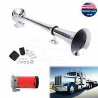 150DB 12V Single Trumpet Air Horn Compressor Kit For Van Train Car Truck Loud US