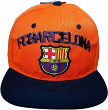 FC BARCELONA OFFICIAL TEAM LOGO CAP / HAT - FCB015 Orange