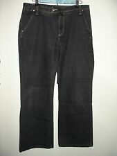 Eddie Bauer Women's Size 10(34x30) Black Weathered Boot Cut Jeans Stretch 45-400
