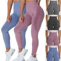 Women's Gym Fitness Seamless Yoga Leggings High Waist Workout Sport Pants Strech