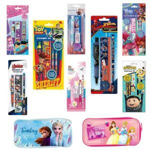 Boys Girls School Stationery Set Peppa Pig / Emojis / Avengers / Spiderman UK
