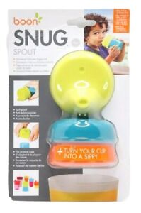 3 Piece Boon Snug Spout Baby Infant Cup Universal Cover Lid BL/OR/YL