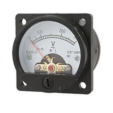 AC 0-300V Round Analog Dial Panel Meter Voltmeter Gauge Black New S3R5