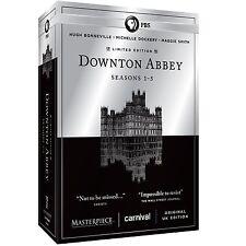 Masterpiece Downton Abbey Complete Season 1 2 3 4 5 Series DVD Set Collection R1