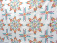"""Two Pillow Panel, Lonestar Teal, 48"""" X 35"""", Cotton Blend Material, Sew,Quilt"""