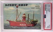 1955 Topps Rails And Sails #167 Light Ship NM PSA 7