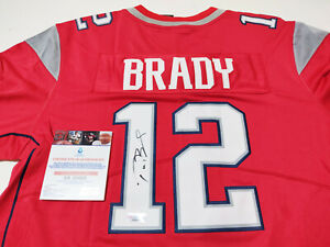 """New England Patriots #12 """"GOAT"""" Autographed Jersey + COA, Certified Item"""
