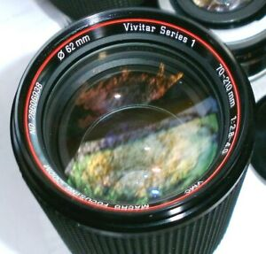 VIVITAR Series 1 Minolta MD 70~210mm f/2.8~ 4 Macro Zoom Lens Minty X-700 X-570