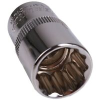"""TRADE QUALITY 15mm SHALLOW 1//2/"""" SQUARE DRIVE SOCKET Metric Bolt Remover 12Pt"""
