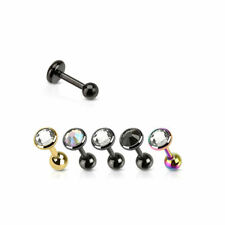 Tragus Helix Cartilage Ohr Piercing Zirkonia Kristall Ohrstecker Barbell Stab