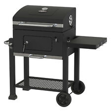 Black 24 Charcoal Grill Heavy Duty Outdoor Backyard Camping Bbq Cooking Smoker