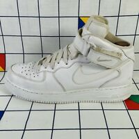 Nike Air Force 1 AF1 Hi Top Triple All White Trainers Shoes Mens Size UK 9 EU 44
