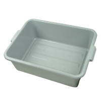 Restaurant Tote Box Grey Plastic Storage Food Container Kitchen Catering Bus Box