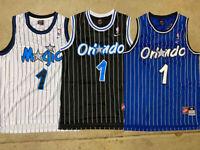Penny Hardaway #1 Orlando Magic Throwback Swingman Sewn BLUE/BLACK Men's Jersey