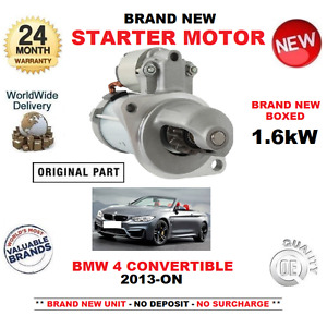 FOR BMW 4 CONVERTIBLE 435 i xDrive M4 STARTER MOTOR 2013-> 1.6kW F33 F83 CABRIO