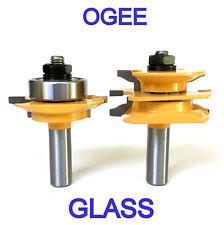 """2pc 1/2""""SH Glass Door Ogee R&S Router Bit Set"""