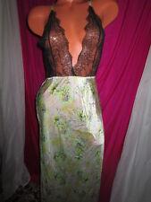 $128 VICTORIA'S SECRET Designer Collection Fantasy Island 100% Silk Gown~S~NWT