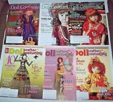 Lot 6 Doll Crafter & Costuming magazines 3 2005 patterns 3 2006 cloth clay ++