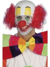 Clown Rubber Top Wig Comedy Adult Unisex Smiffys Fancy Dress Costume Accessory